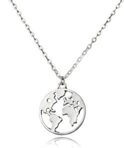 collier carte du monde