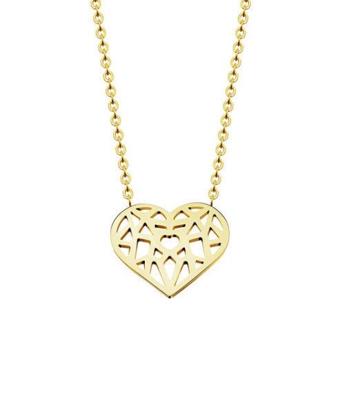 collier coeur dore