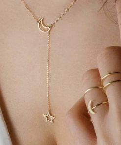 collier lariat femme
