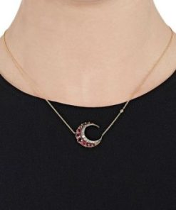 collier lune femme