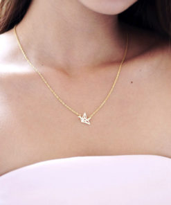 collier origami femme