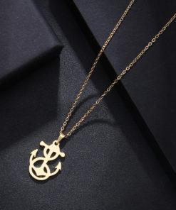 Collier ancre or cadeau