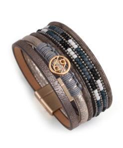 bracelet manchette multitours tendance