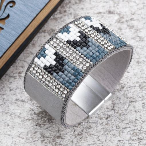 bracelet manchette strass