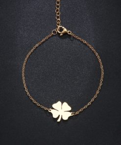 bracelet trefle or femme