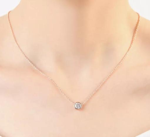 collier zirconium femme