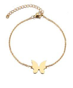 bracelet acier papillon
