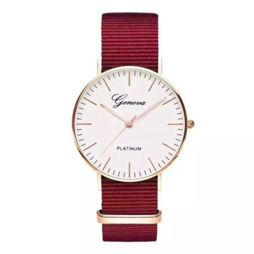 Montre nylon rouge