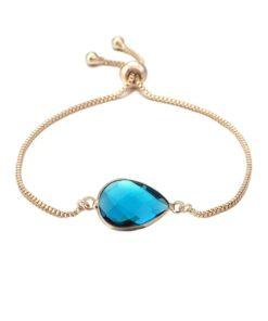 bracelet fantaisie bleu