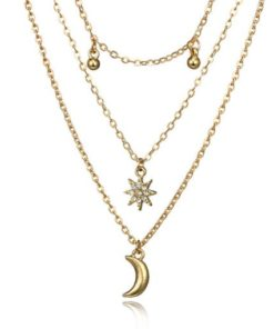 collier fantaisie lune
