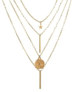 collier multirangs medaille
