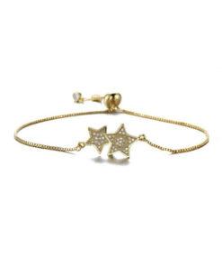 Bracelet etoile dore cadeau