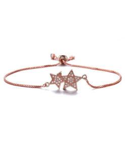 Bracelet etoile or rose