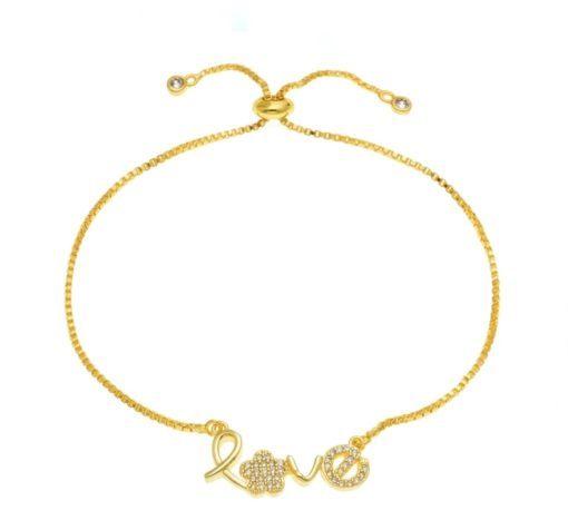 bracelet lettre love