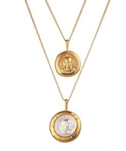 Collier fantaisie medaille