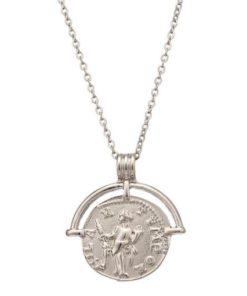 collier petite medaille argente