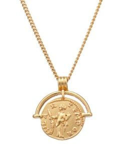 collier petite medaille dore