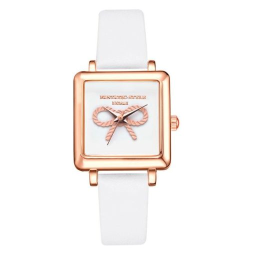 montre carree blanche