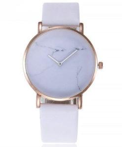 montre marbre blanc