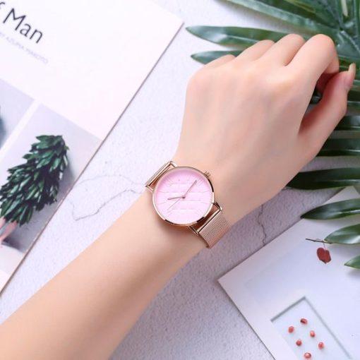 montre rose cadeau femme