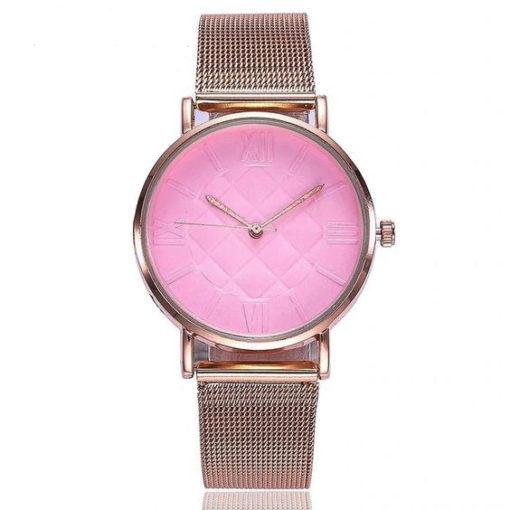 montre rose femme