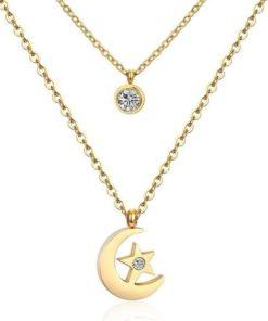 Collier lune cadeau femmeCollier lune cadeau femme