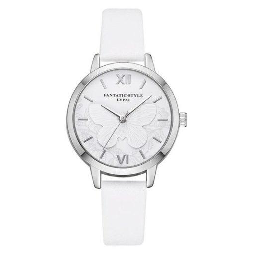 montre argent blanche