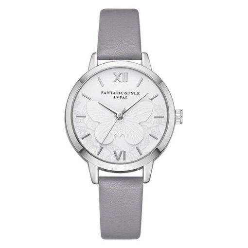 montre argent bracelet gris