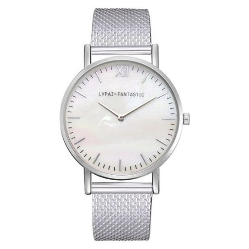 montre argente bracelet silicone