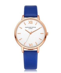 montre bleu minimaliste