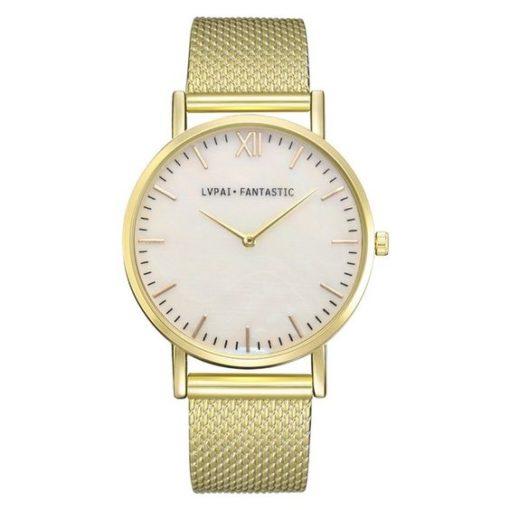 montre dore bracelet silicone