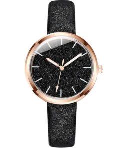 montre noire cadeau femme