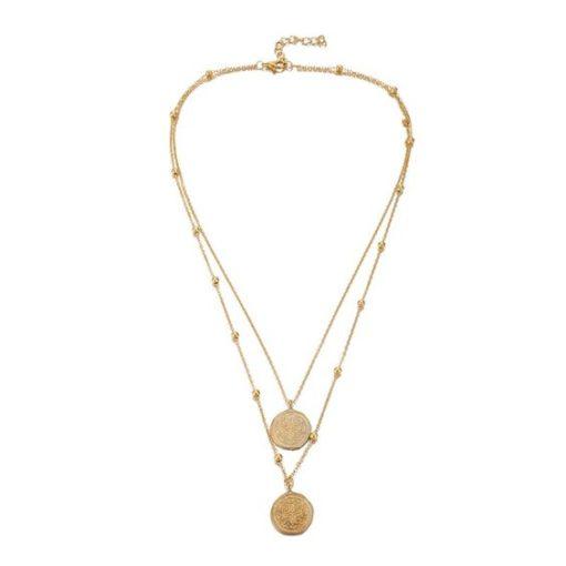 Collier pendentif medaille croix