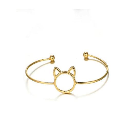 bracelet jonc chat pas cher