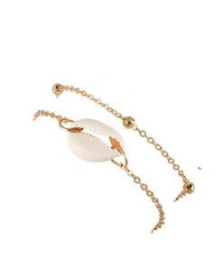 bracelet multirangs coquillage