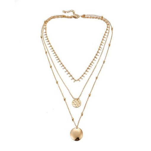 collier trois rangs pampille