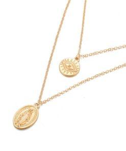 collier medailles tendance