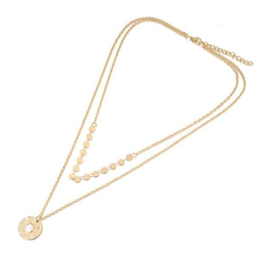 Collier deux rang medaille