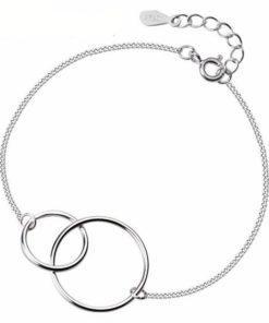 bracelet anneaux argent