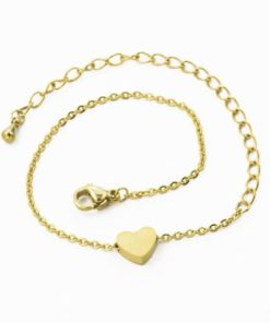 bracelet pendentif coeur pas cher
