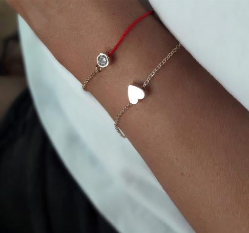 bracelet pendentif coeur
