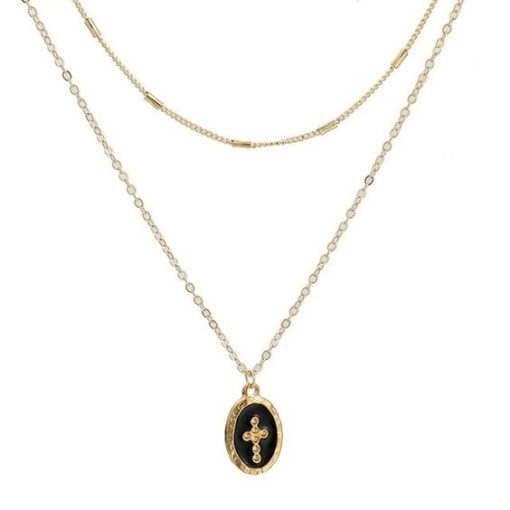 collier medaille croix
