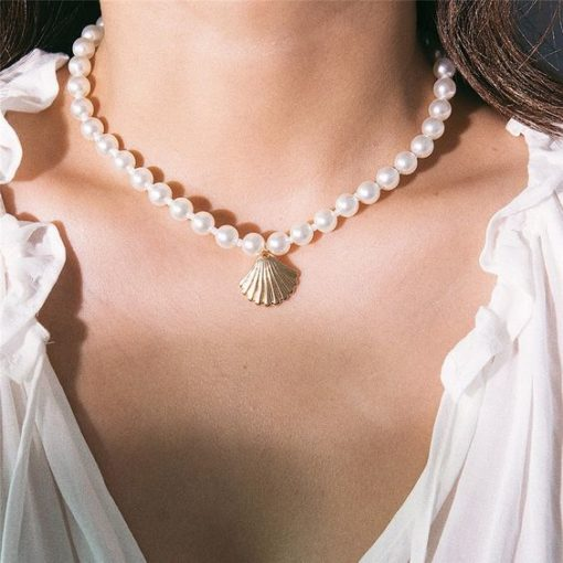 collier perles fantaisie tendance