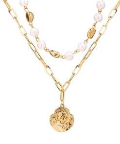 collier perles tendance