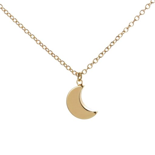 collier lune dore
