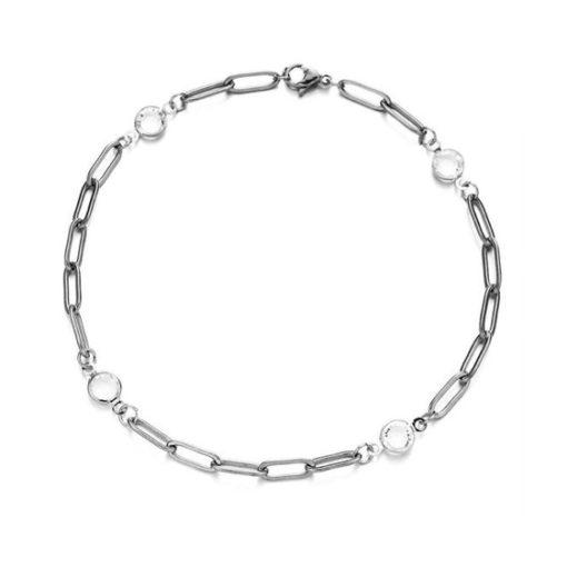 bracelet chaine gourmette argente