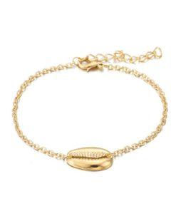 bracelet coquillage dore pas cher