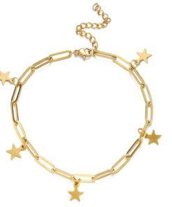 bracelet etoile acier inoxydable