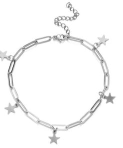 bracelet etoiles acier inoxydable cadeau