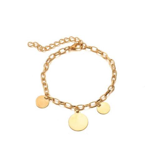 bracelet medailles pas cher femme